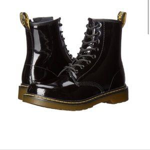 Dr Martens Women's Boots 1460 Black Patent Sz 5 US